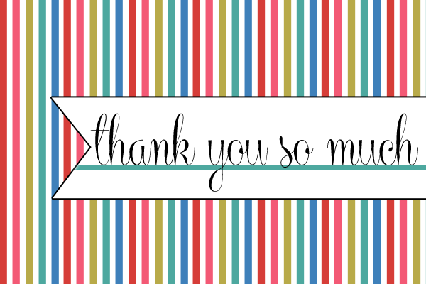 picture relating to Thank You Printable titled Printable Thank By yourself Card