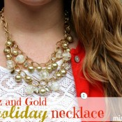 Glitz and Gold Necklace Tutorial