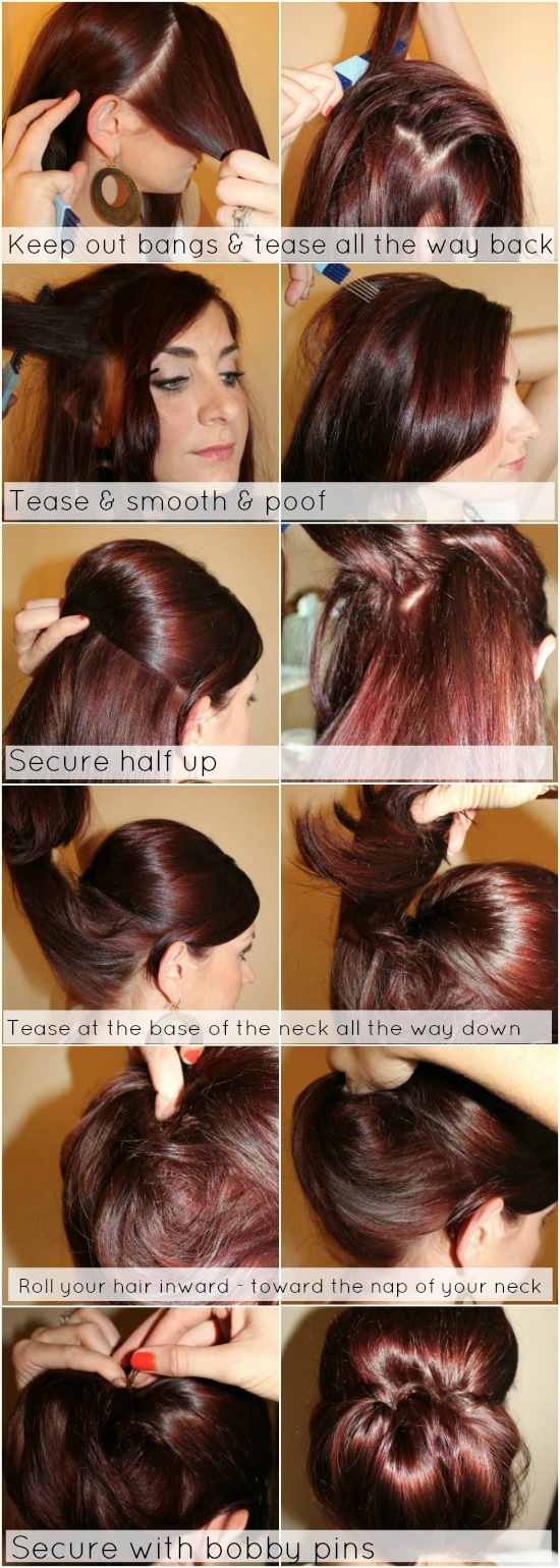 Hair Tutorial Low Chignon With Poof