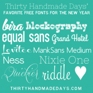 Favorite Free Fonts for the New Year