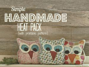 stocking stuffer- handmade owl heat pack
