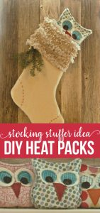 Stocking Stuffer Idea- Homemade Heat Pack Owls via thirtyhandmadedays.com