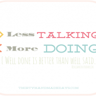 Resolutions Quote: Less Talking, More Doing