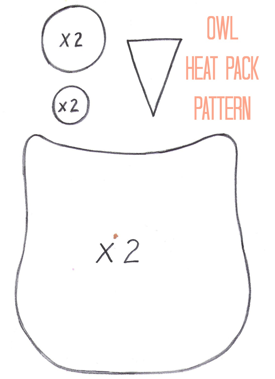 owl heat pack pattern thirty handmade days