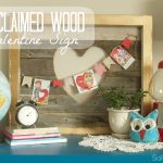 DIY Reclaimed Wood Valentine Sign
