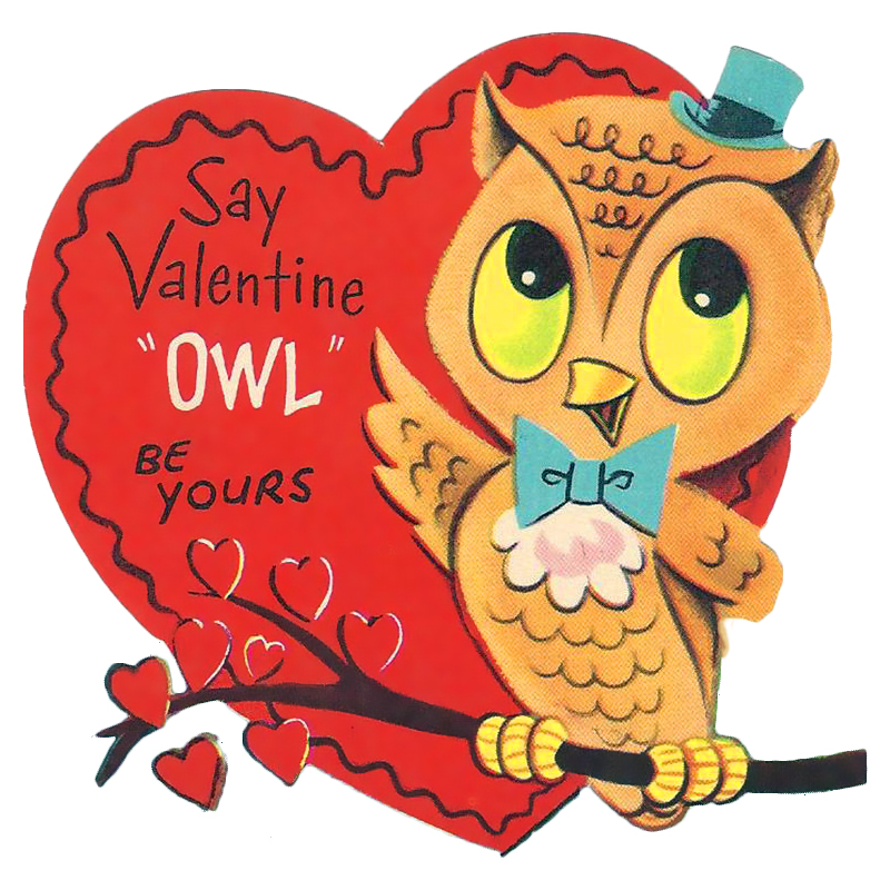 Vintage Owl Valentine Printable Freebie By FPTFY