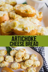 Artichoke Cheese Bread - an easy to make, delicious appetizer! www.thirtyhandmadedays.com