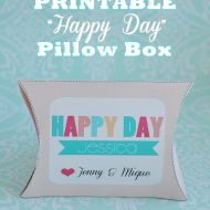 Printable Birthday (or any occasion) Pillow Box Template