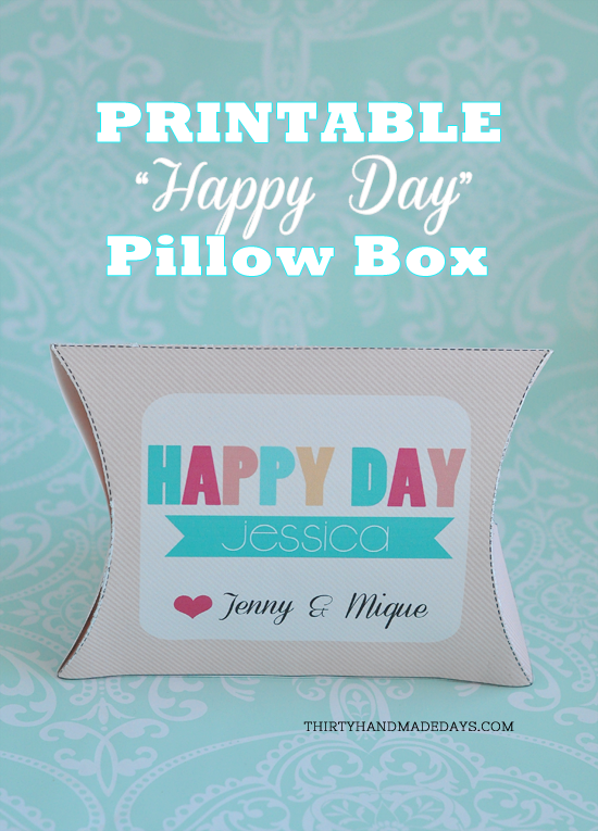 Birthday Box Template printable