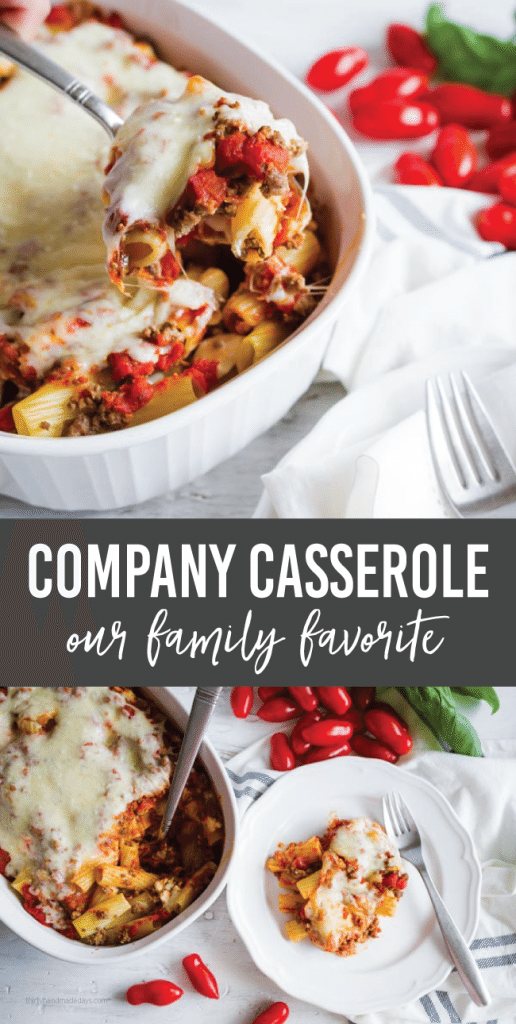 Company Casserole - a family favorite. Make this simple main dish and everyone will love it!