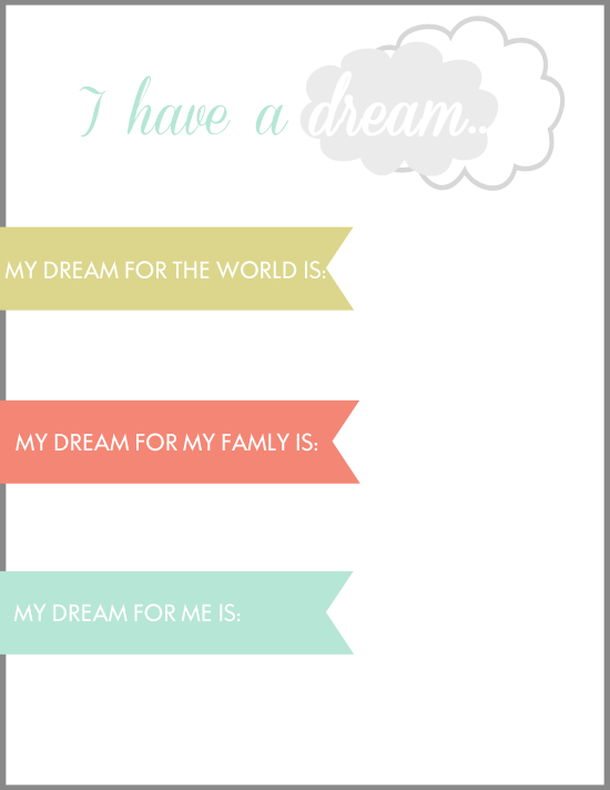 Martin Luther King Jr inspired printable