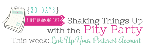 Pity Party- Link Up your Pinterest Account