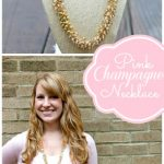 Pink Champagne Necklace Tutorial