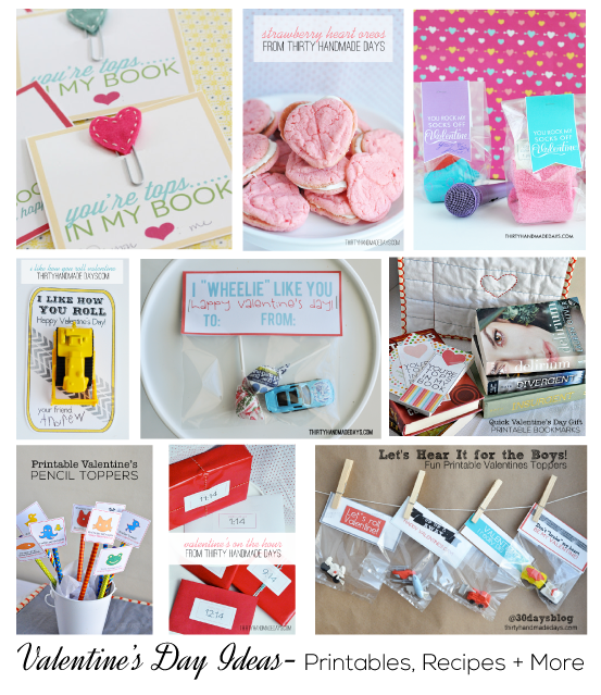 Over 25 Valentine's Day Ideas, Printables and Recipes from www.thirtyhandmadedays.com