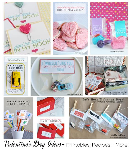 Over 25 Valentine's Day Ideas, Printables and Recipes from www.thirtyhandmadedays.com