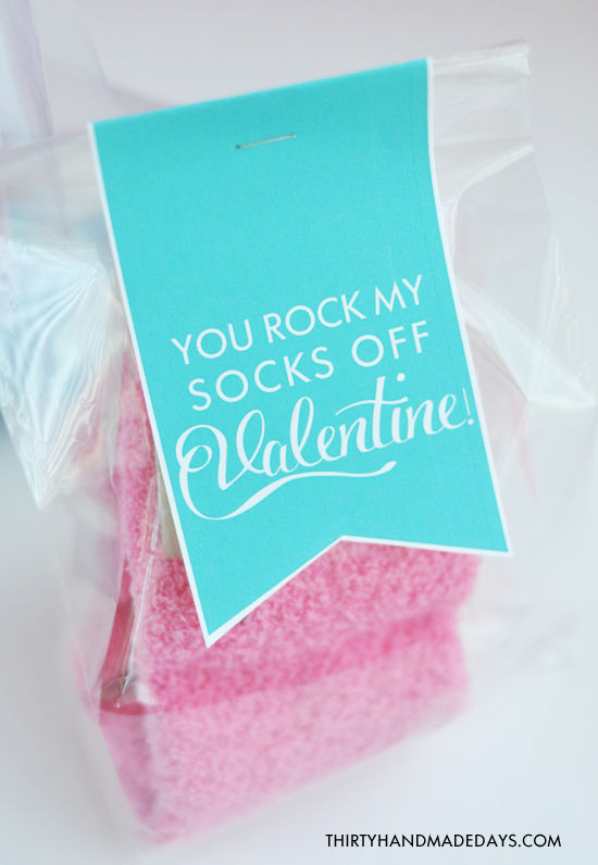 You Rock My Socks Off Valentine