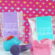 Perfect Valentines Tween Idea: You Rock My Socks Off!