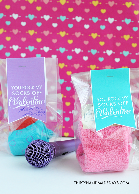 photo about You Rock Valentine Printable named Valentines Notion: On your own Rock My Socks!