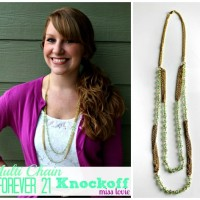 Forever 21 Knockoff Necklace Tutorial