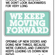 Printable Disney Quote: Keep Moving Forward