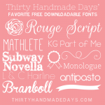 Favorite Free Fonts from @30daysblog