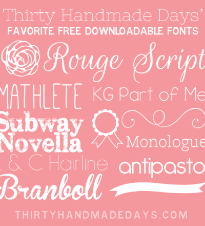 Favorite Free Fonts + Dingbats to Add to Your Growing Collection