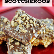 Heath Bar Chocolate Scotcheroos Dessert Recipe