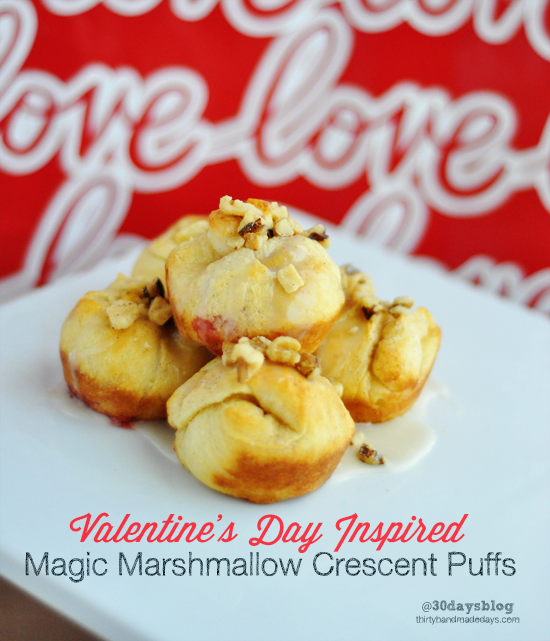 Perfect treat for Valentine's Day- Magic Marshmallow Puffs