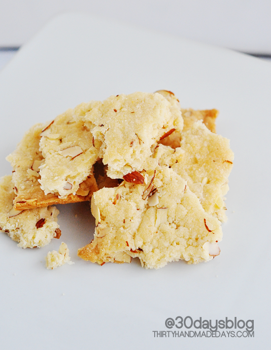 Almond Cookies from @30daysblog