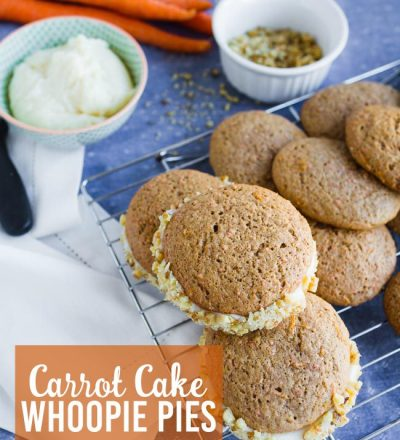 A take on traditional Carrot Cake - make whoopie pies instead! www.thirtyhandmadedays.com