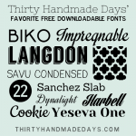 Free Downloadable Fonts for Spring