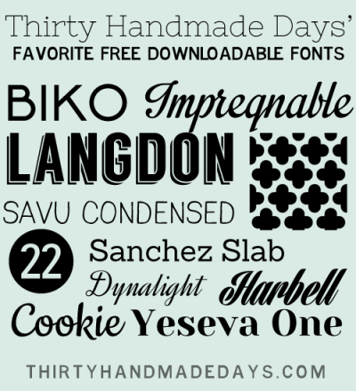 Favorite Free Fonts to Download