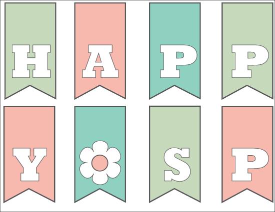Happy Spring Printable www.thirtyhandmadedays.com