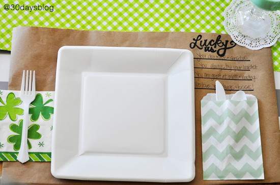 "Kraft ""lucky us"" Placemats"