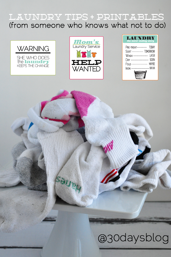Laundry Tips from @30daysblog