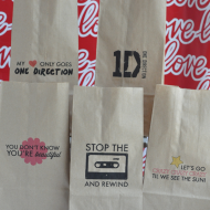 One Direction Printable Lunch Bags!