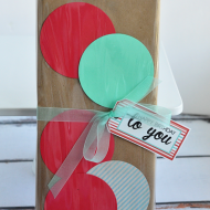 Gift Wrapping Idea: Make a Polka Dot Package!