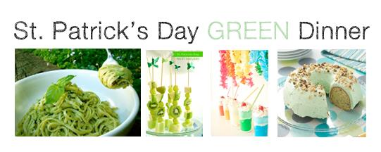 St Patricks Day Green Dinner