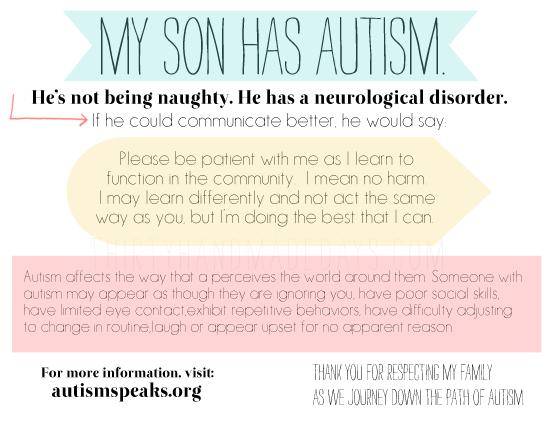Autism Awareness Card www.thirtyhandmadedays.com