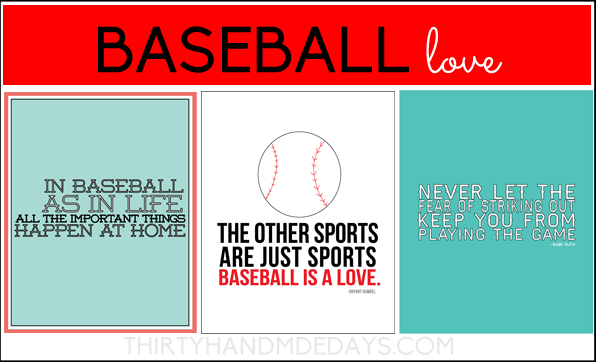 Baseball is Life! (includes 3 Printables)