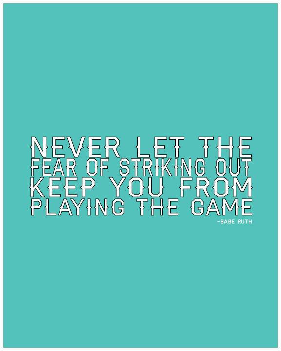 Baseball quote from www.thirtyhandmadedays.com