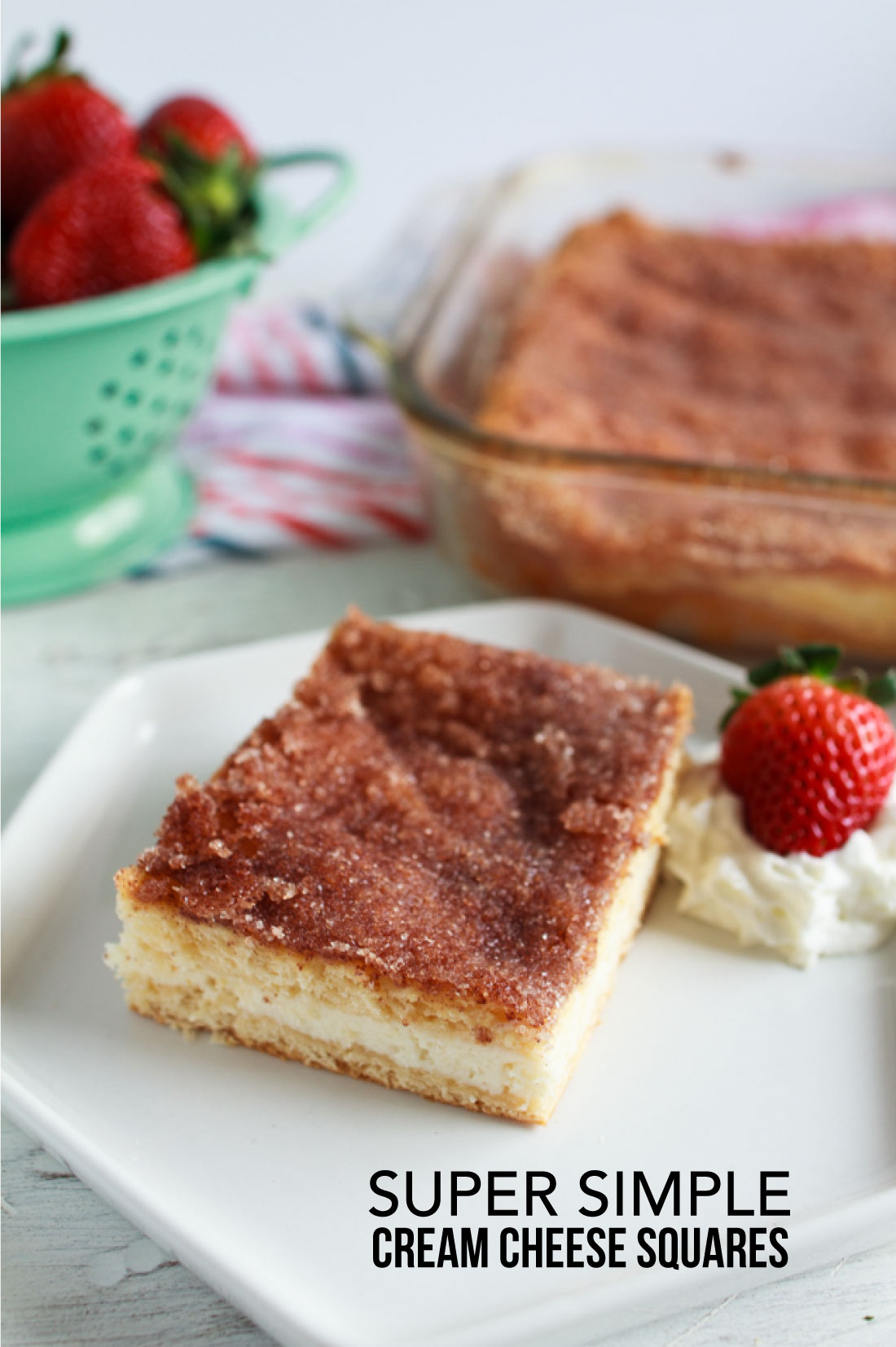 Food: Super Simple Cream Cheese Squares - ridiculously easy to make and oh so good! from www.thirtyhandmadedays.com