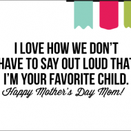 Fun Printable Mother's Day Card times 2