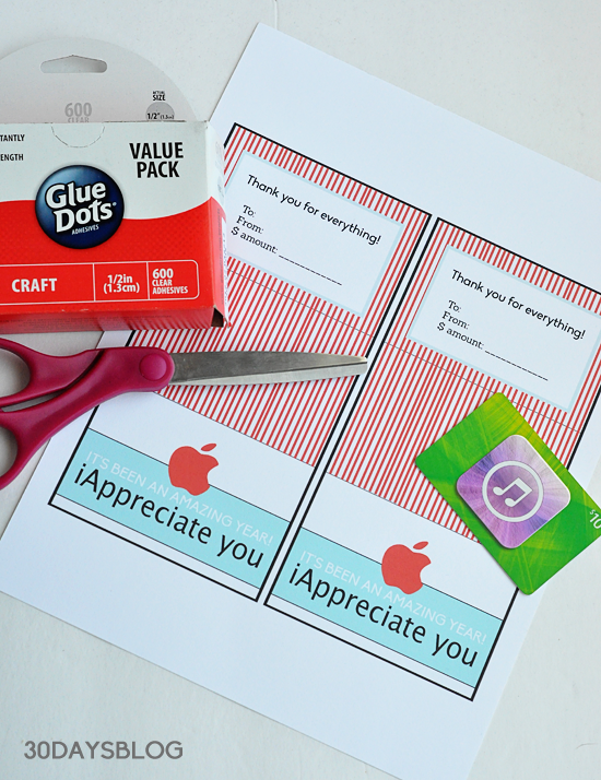 photo regarding Itunes Printable Gift Card named Instructor Reward Thought: Apple Present Card Printable Template