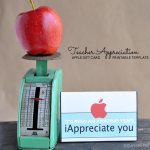 Teacher Apple Gift Card Printable Template www.thirtyhandmadedays.com