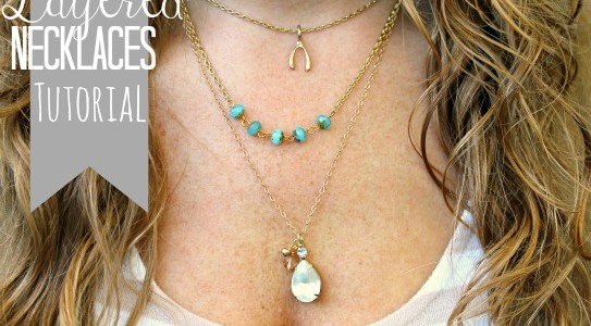 DIY Layered Necklace Tutorial from Miss Lovie via www.thirtyhandmadedays.com
