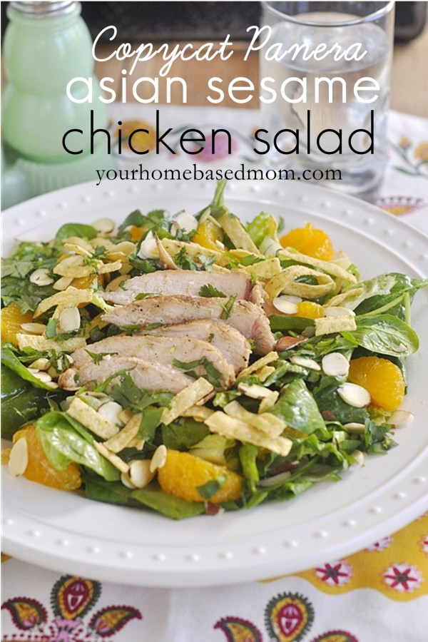 Copycat Panera Asian Chicken Salad- try this one from home and you'll be hooked. Yum! via www.thirtyhandmadedays.com