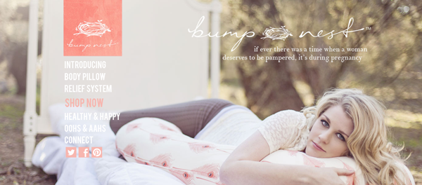 Bump Nest - fabulous pregnancy pillow giveaway www.thirtyhandmadedays.com