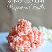 Easiest Popcorn Balls Ever! Only 3 ingredients. www.thirtyhandmadedays.com