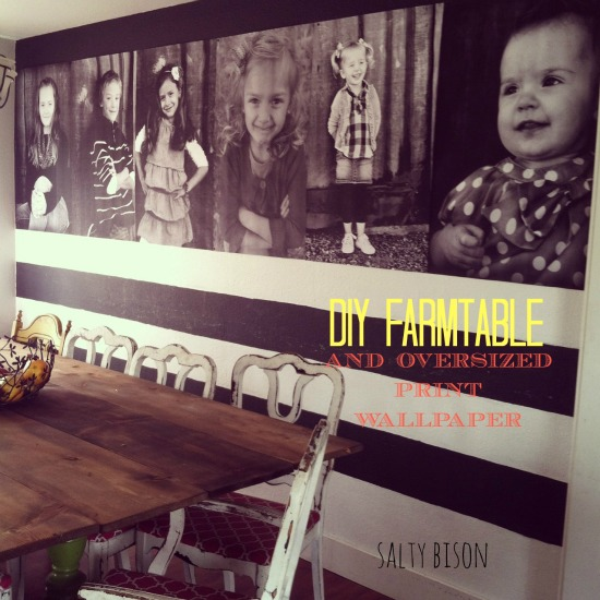 DIY Farm Table and Photo Wall from Salty Bison www.thirtyhandmadedays.com